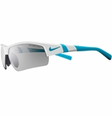 Nike Show-X2 Pro Sunglasses - White/Neon Turquoise/Gray