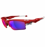 Oakley Fast Jacket XL Infared/Red Iridium Sunglasses