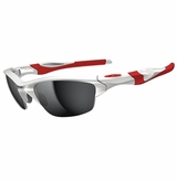 Oakley Half Jacket 2.0 Polished White/Red w/Black Iridium Sunglasses