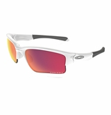 Oakley Quarter Jacket Polished White with Prizm Yth. Sunglasses