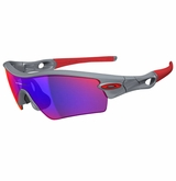 Oakley Radar Path Polished Fog W/ Positive Red Iridium Sunglasses