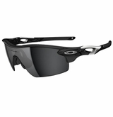 Oakley Radarlock Pitch Polished Black W/ Black Iridium & VR28 Sunglasses