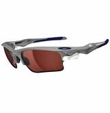Oakley Sunglasses - Fast Jacket XL Polished Fog/VR28 Black Iridium w/ Grey Sunglasses