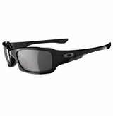 Oakley Sunglasses - Fives Squared Polished Black w/Grey Sunglasses
