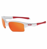 Oakley Yth. Quarter Jacket White/Fire Iridium Sunglasses