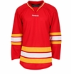 Old Calgary Flames Reebok Edge Gamewear Uncrested Adult Hockey Jersey