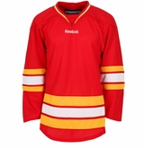 Old Calgary Flames Reebok Edge Gamewear Uncrested Junior Hockey Jersey
