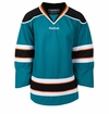 Old San Jose Sharks Reebok Edge Gamewear Uncrested Junior Hockey Jersey
