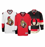 Ottawa Senators Reebok Edge Jr. Premier Crested Hockey Jersey
