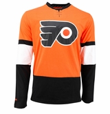 Philadelphia Flyers Reebok Face-Off Sr. Long Sleeve Jersey Tee