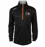 Philadelphia Flyers Reebok Baselayer Quarter Zip Pullover Performance Jacket