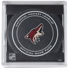 Phoenix Coyotes Official NHL Game Puck with Cube