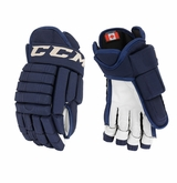 Pittsburgh Penguins CCM 4-Roll Pro Stock Hockey Gloves Macintyre