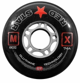 Red Star MX GT 74A Inline Hockey Wheel - Black