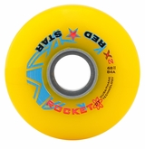 Red Star Rocket 2X 84A Roller Hockey Wheel - Yellow