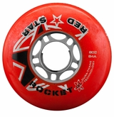 Red Star Rocket DT 84A Roller Hockey Wheel - Red