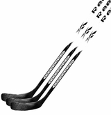 Reebok 8.0.8 White Grip Sr. 2-Piece Composite Hockey Stick - 3 Pack