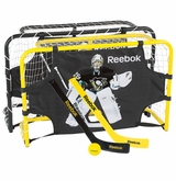 Reebok Fleury Mini Hockey Steel Net Deluxe Set