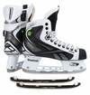 Reebok White 20K Pump Sr. Ice Hockey Skates w/ Free Rocket Runners