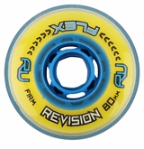 Revision Flex Firm 76A/78A Roller Hockey Wheel - Yellow/Blue