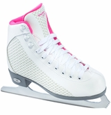 Riedell 13 Sparkle Girl's Figure Skates - White/Pink