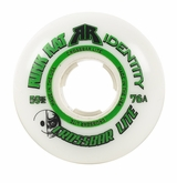 Rink Rat Crossbar Lite 76A Roller Hockey Goalie Wheel - White/Green