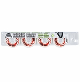 Rink Rat Eclipse Indoor 76A Roller Hockey Wheel - White/Red - 4 pack
