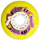 Rink Rat Envy XX 78A Roller Hockey Wheel - Yellow/Purple