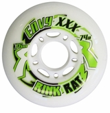 Rink Rat Envy XXX 74A Inline Hockey Wheel - White/Green