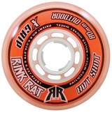 Rink Rat Hotshot X 84A Inline Hockey Wheel - Orange/White '13