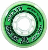 Rink Rat Hotshot XXX 76A Roller Hockey Wheel - Green/White '13