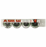 Rink Rat Hotshot XXX 76A Inline Hockey Wheel - White/Green '12 - 4 Pack