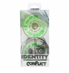 Rink Rat Identity Conflict 76A Roller Hockey Wheel - White/Green - 4 Pack