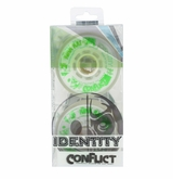 Rink Rat Identity Conflict 76A Inline Hockey Wheel - White/Green - 4 Pack