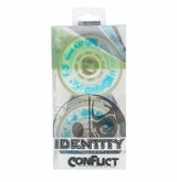 Rink Rat Identity Conflict 78A Inline Hockey Wheel  - White/Blue - 4 Pack