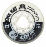 Rink Rat Identity Split 76A Roller Hockey Wheel- Black/White