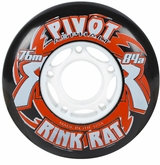 Rink Rat Pivot Asphalt 84A Roller Hockey Wheel - Black/Red