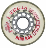 Rink Rat Retro VT733 76A Inline Hockey Wheel - Clear/Red
