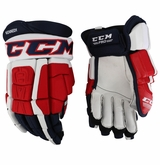 Rochester Americans CCM 3 Pro Stock Hockey Gloves - Kennedy