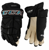 San Jose Sharks CCM 12X Pro Stock Hockey Gloves - Scott