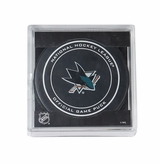 San Jose Sharks Official NHL Game Puck with Cube