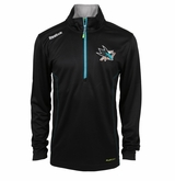 San Jose Sharks Reebok Baselayer Quarter Zip Pullover Performance Jacket
