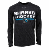 San Jose Sharks Reebok Center Ice Locker Room Sr. Long Sleeve Performance Shirt