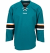 San Jose Sharks Reebok Edge Gamewear Uncrested Adult Hockey Jersey
