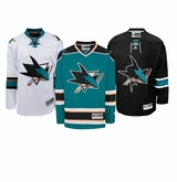San Jose Sharks Reebok Edge Jr. Premier Crested Hockey Jersey