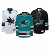 San Jose Sharks Reebok Edge Premier Crested Hockey Jersey