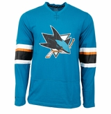 San Jose Sharks Reebok Face-Off Sr. Long Sleeve Jersey Tee