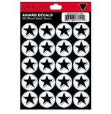SportStar Hockey Helmet Decal Awards Black Star