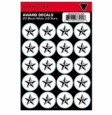SportStar Hockey Helmet Decal Awards Black/White Star