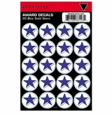 SportStar Hockey Helmet Decal Awards Blue Star